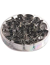 Bargain Sealike Stainless Steel Cookies Cutters Molds Mini English Alphabet Letters Shaped 26pcs With Stylus deliver