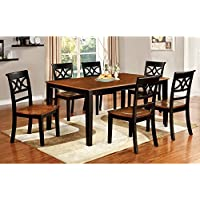 Furniture of America Seaberg Country 7 Piece Dining Table Set