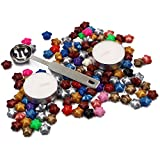 M-Aimee 120 Pcs Star Shape Sealing Wax Beads,With 1 Piece Wax Melting Spoon and 2 Pieces Wax,Random colors