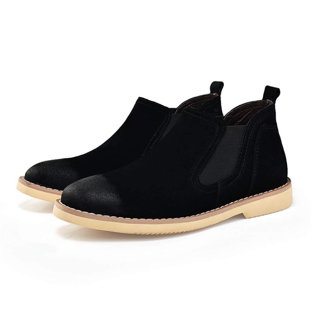 Shufang-scarpe Casual Chelsea Classic da Uomo Uomo Uomo Stivali Mid-Top British Restoring Ancient Ways Work scarpe (Colore   Nero, Dimensione   40 EU) da70e7