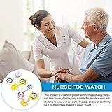 Hemobllo 4pcs Nurse Lapel Watch Doctor Clip on