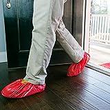 ShuBee Waterproof Shoe Covers, Red