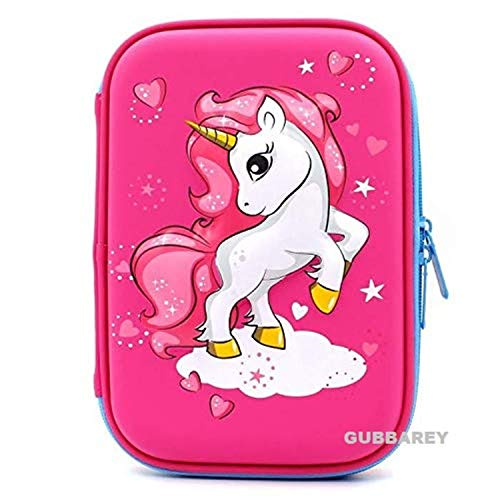 Gubbarey Pencil Stationary Case Compass Box Multipurpose Travel Pouch case Kids / Women / Girls for School / College / Office / Home / Organizer Design and Colors May Vary (Unicorn-3) (B083W8B8QH) Amazon Price History, Amazon Price Tracker