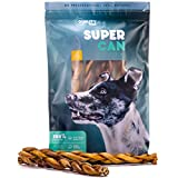 12-inch Braided Bully Sticks [ 7 Pack ], by Super CAN Bully Sticks, Premium & Delicious 100% Natural Dog Treats and Chews. Made only from Free Range Grass fed Beef.