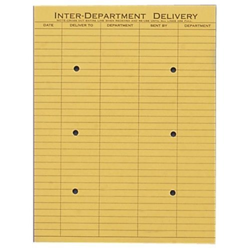 QUA63262 - Brown Kraft Fold Flap Kraft Trade Size Interoffice Envelope by Quality Park