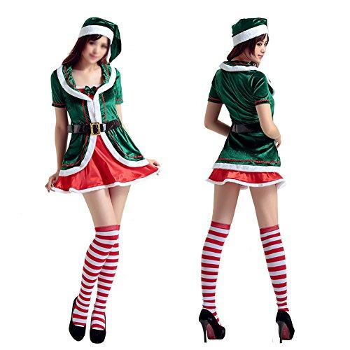LifeWheel New Christmas Xmas Helper Elf Costume Outfit for women