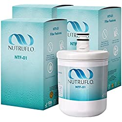 NuTruFlo NTF-01 LG LT500P Water Filter Replacement For LG 5231JA2002A, 5231JA2002A-S, LT 500P, ADQ72910901 Kenmore 469890, 9890, 46-9890, ADQ72910907 Refrigerator (3 Pack)