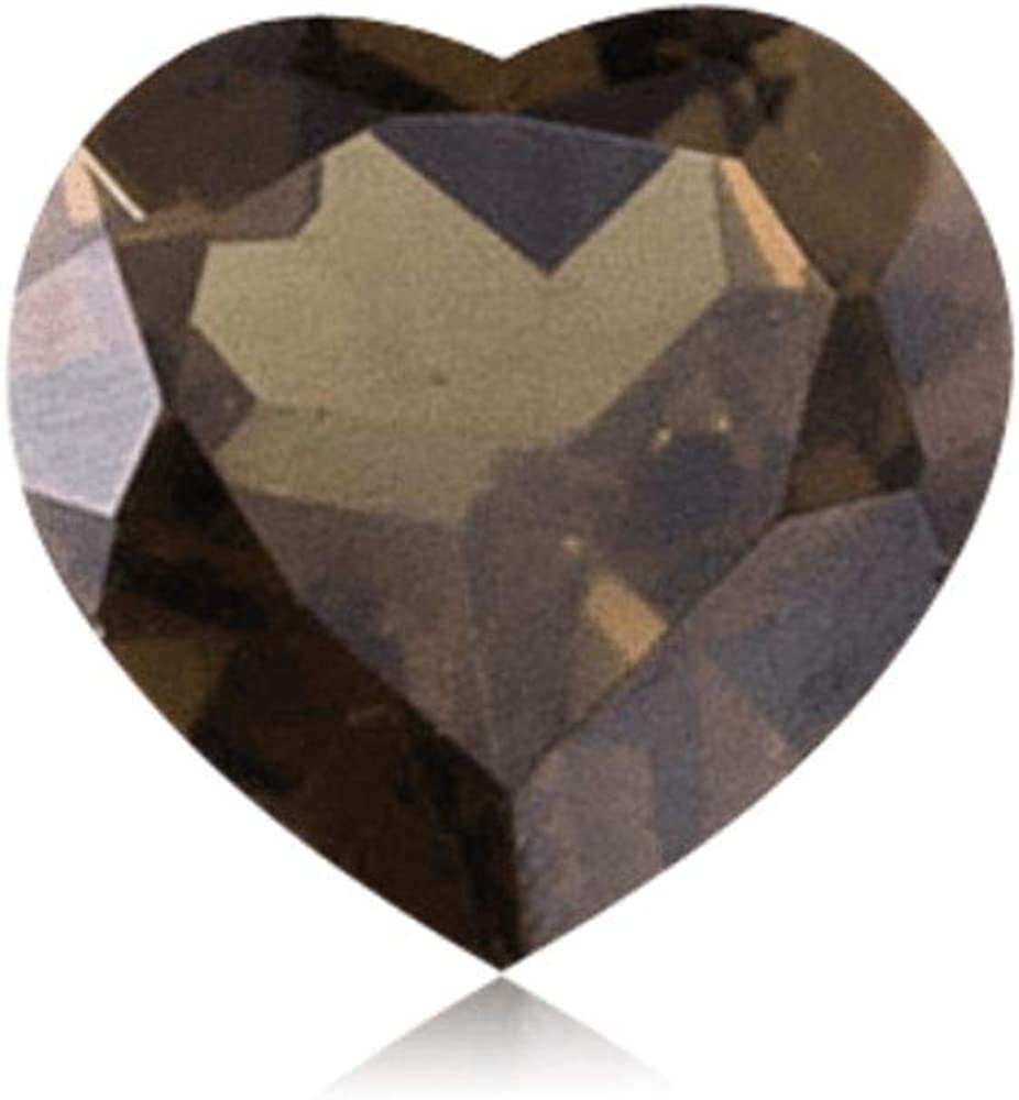 SMOKY QUARTZ 8 MM HEART CUT AAA ALL NATURAL