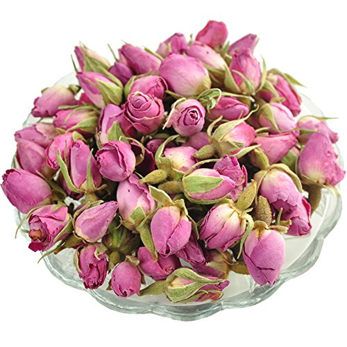 [Chariot Trading - pink rose the China health care herb scented tea 80g] (Linen Rose Saucer)