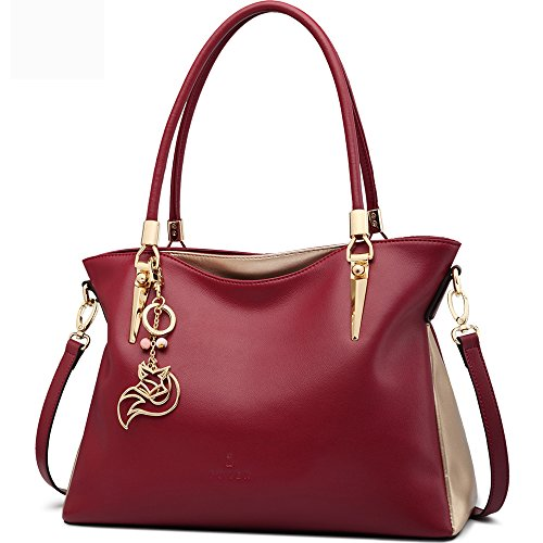 FOXER Women Handbag Leather Purse Lady Tote Shoulder Bag Top Handle Bag by FOXER
