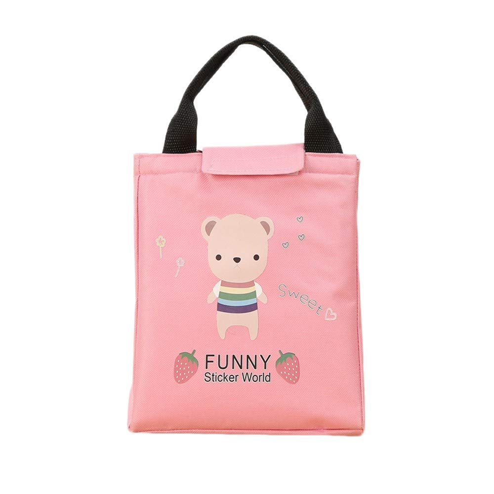 Hot!Ninasill Panda Print Waterproof Preserved Insulation Bags Thickening Lunch Bag Working School Picnic Lunch Bag