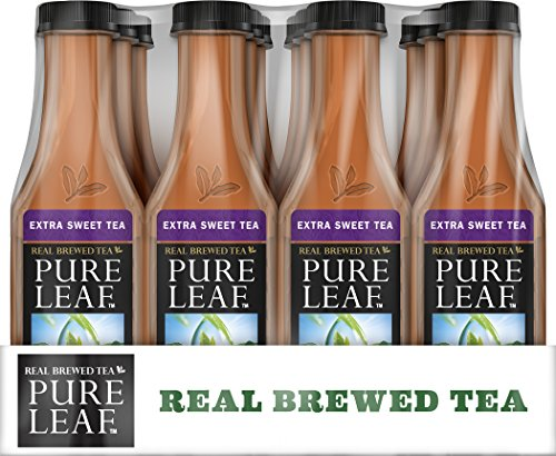 Pure Leaf Iced Tea, Extra Sweet, Real Brewed Black Tea, 18.5 Ounce Bottles (Pack of 12)