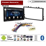 99 honda civic double din kit - Volunteer Audio Power Acoustik PD-651B Double Din Radio Install Kit with Bluetooth DVD/CD Player Fits 2006-2011 Honda Civic