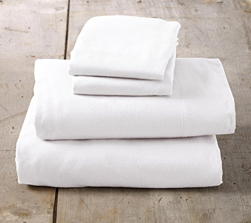 (Home Fashion Designs Nordic Collection Extra Soft Cotton Flannel Twin Bed Sheet Set - Winter White)
