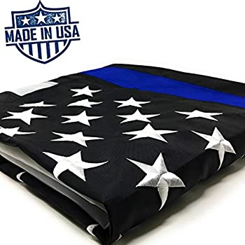 Amazon.com : Thin Blue Line American Flag - 3 x 5 ft with ...