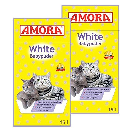 Amora White Babypuder