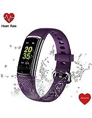 Abeyete Fitness Armband Uhr mit Pulsmesser Fitness Tracker Wasserdicht IP68 Fitness Uhr Schrittzähler Smartwatch Pulsuhren Schlafmonitor Schrittzähler Anruf SNS SMS für iOS Android Handy