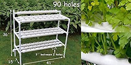 Hydroponic Site Grow Kit 90 Site System with Nest Basket Water Pump and  Sponge