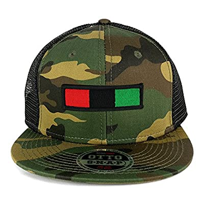 Africa Red Black Green Embroidered Iron on Patch Camo Flat Bill Snapback Mesh Cap