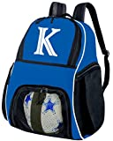 Broad Bay Personalized Soccer Backpack - Custom Volleyball Bag Blue