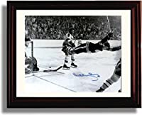 "Framed Bobby Orr ""The Goal"" 1970 Stanley Cup Autograph Print - Boston Bruins"