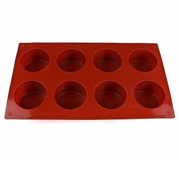 8 moldes de jabón de silicona Cavities Circle, molde para hornear, bandeja para cubitos de hielo: Amazon.es: Hogar
