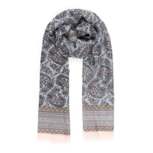 Scarf for Women Lightweight Paisley Fashion Fall Winter Scarves Shawl Wraps (VFP10-4)