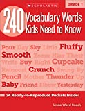 vocabulary for kids - 240 Vocabulary Words Kids Need to Know: Grade 1: 24 Ready-to-Reproduce Packets Inside!