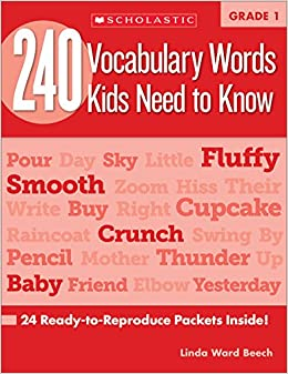 Descargar 240 Vocabulary Words Kids Need To Know: Grade 1: 24 Ready-to-reproduce Packets Inside! PDF
