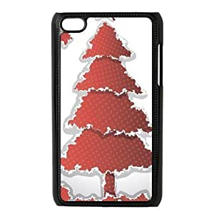 Beautiful Christmas tree New Fashion Case for Ipod Touch 4, Popular Beautiful Christmas tree Case