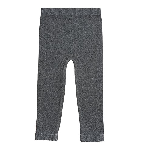 Girls Pant Knit - Silky Toes Baby Leggings, Toddler Seamless Soft Cotton Knit Pants for Girls and Boys (12-18 Months, Heather Grey)