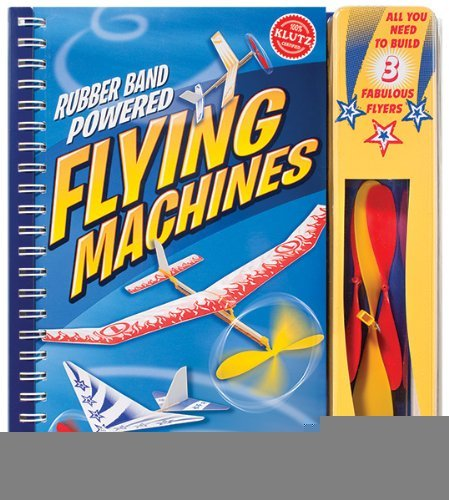 Book cover from Rubber Band Powered Flying Machines (Klutz) [Spiral-bound] [2010] Spi Har/to Ed. Scientists Of Klutz Labs, Pat Murphy, The Scientists of Klutz Labs by Pat Murphy, The Scientists of Klutz Labs Scientists Of Klutz Lab