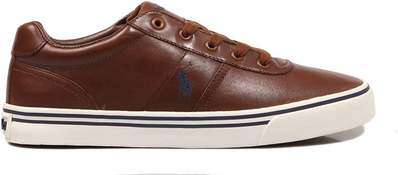 Polo Ralph Lauren, Hanford Leather Tan, Zapatillas para Hombre, 43 ...