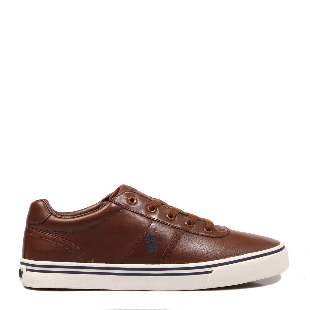 Polo Ralph Lauren, Hanford Leather Tan, Zapatillas para Hombre, 41 ...
