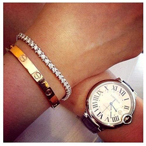 ALEAD Liebesarmband Liebesringe mit Schrauben Design Doppelring Halskette Damenmode Klassiker Titan Stahl Armband Ringe Liebesring Halskette