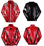 Michael Jackson Jacket Thriller Beat it Billie Jean Jacket Cosplay (with Glove) (Kid S 36-52lb, Billie Jean)