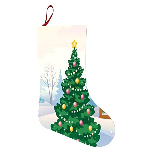 Drawings Of Christmas Decorations.Amazon Com Green Drawing Christmas Tree Personalized