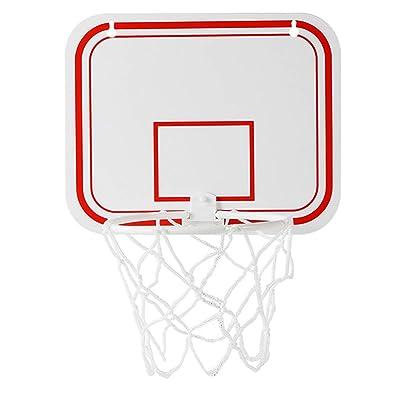 HAOWANG Plastic Basketball Box Set Indoor Adjustable Hanging Basketball Frame with Mini Basketball Board Basketball Frame Ball Sports Set for Kids: Toys & Games