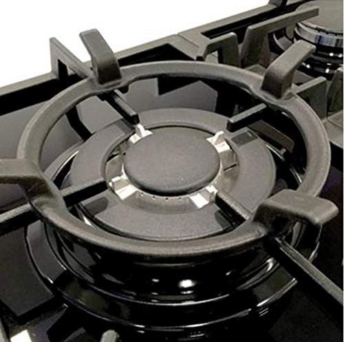 Wok Stand - Gas Cooktop Black Cast Iron Stove Rack Trivets Wok Support Ring (A)