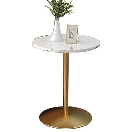 Amazon.com: Xiaodong Mesa auxiliar redonda de mármol + mesa ...