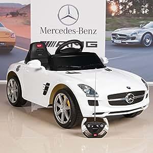 Kids ride on car mercedes benz sls amg 6v for Car battery for mercedes benz