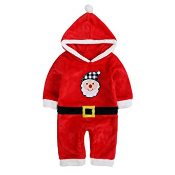 9a6c9c8f2 Amazon.com: Unisex Baby Flannel Romper Animal Onesie Costume Hooded Cartoon  Outfit Suit: Clothing