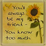 Fridge Magnet 001 You'll always be my friend - you know too much