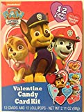 Paw Patrol Valentines card kit 12 cards and pops