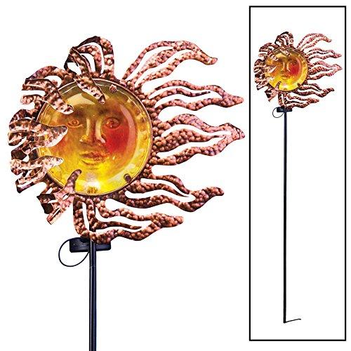 Solar Garden Decor Stake Brown