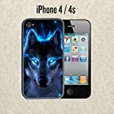 img - for iPhone Case The Blue Wolf for iPhone 4 / 4s Rubber Black (Ships from CA) book / textbook / text book