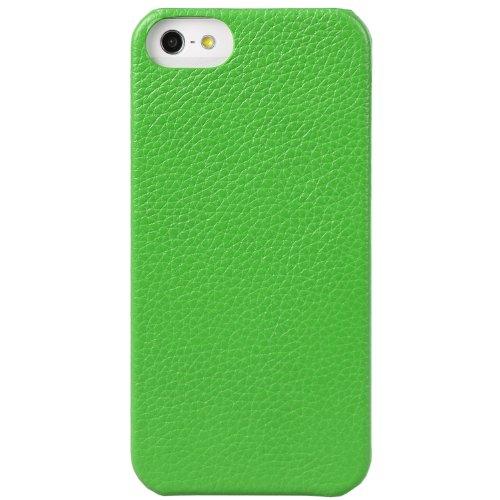 Melkco Limited Edition Jacka Type Leder Case für Apple iPhone 5 grün/gelb