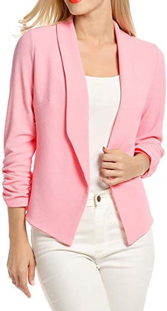 Fineday Coat Cardigan for Women, Women 3/4 Sleeve Blazer Open Front Short Cardigan Suit Jacket Work Office Coat, Jackets and Coats