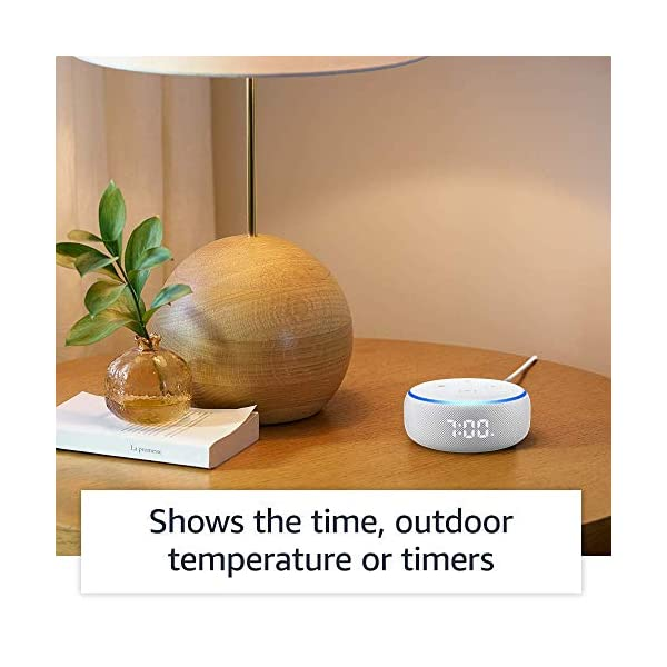 51Z 57CtMML Echo Dot (3rd Gen) with clock - Smart speaker with Alexa and LED display (White)