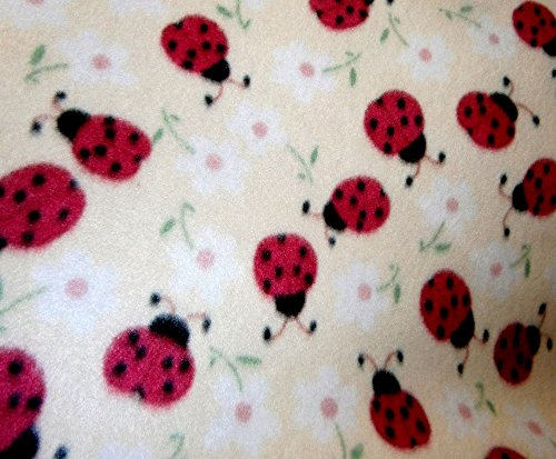 - Lady Bug on Yellow Fleece 1 Yard